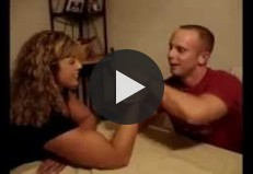 Charley And Dulcibella Girl Vs. Arm Wrestling
